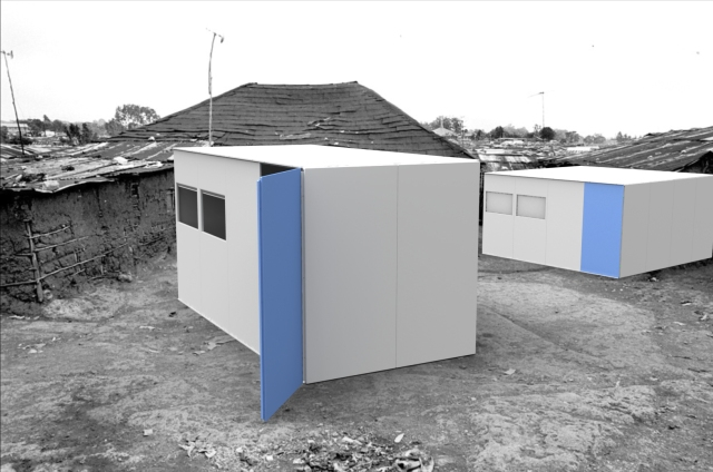 Blocks Houses can be assembled in different sizes to improve underprivileged living