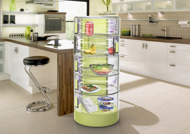 Conserve Fridge – traps cool air if a shelf is opened